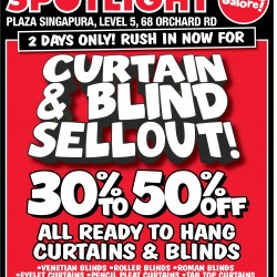 Curtain & Blind sellout bargains galore @ Spotlight