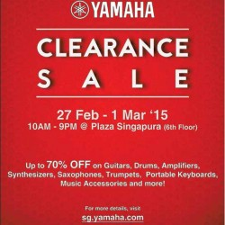 Clearance Sale up to 70% off @ YAMAHA
