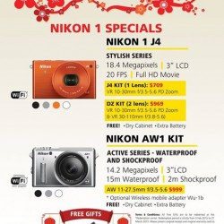 NIKON 1 specials @ Harvey Norman