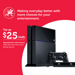 $25/mth for PlayStation®4 with camera @ SingTel