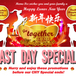 Last Days CNY Special Deals @ Home Fix