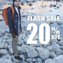 20% OFF Herschel Bag Promotion @ 77th Street