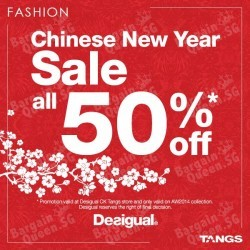 50% off Desigual's Autumn/Winter 2014 @ Tangs