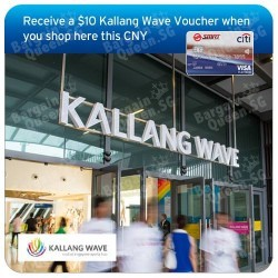 $10 voucher with $150 / $200 spend @ Kallang Wave with Citibank SMRT Card