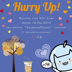 Register KOI card and receive ValentinePromo voucher