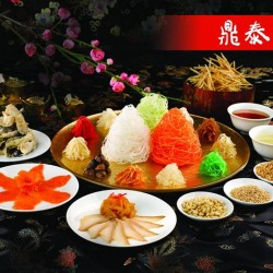 complimentary Standard Prosperity Salmon Yu Sheng with $100 spend @ Din Tai Fung