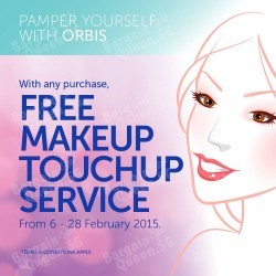 FREE makeup touch-up service with purchase @ ORBIS