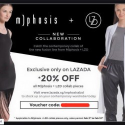 20% OFF all M)phosis and LZD collab piece @ Lazada.sg