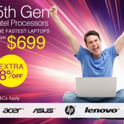 8% off Laptops with 5th Gen Intel Processors @ Lazada.sg