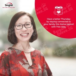Singtel Postpaid Cards Get Free Unlimited Data all day on 19 Feb