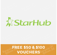 #GOSF free $50 & $100 shopping voucher @ StarHub