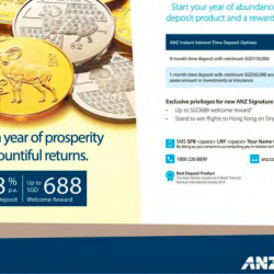 1.38% p.a. SGD Time deposit + up to $688 welcome reward @ ANZ