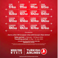 Singapore to Europe Special fare @ Turkish Airlines