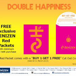 FREE Exclusive dENIZEN Red Packets with minimum $88 nett purchase