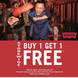 Buy 1 Get 1 Free storewide on Levi's® apparels @ Metro
