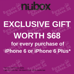 Exclusive gift for any purchase of for iPhone 6 & iPhone 6 Plus @ nübox