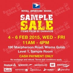 From S$5 onwards Royal Sporting House Sample Sale
