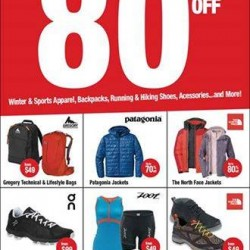 Sports Warehouse Clearance up to 80% off @ The North Face