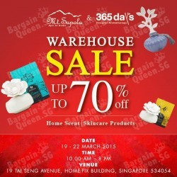 WAREHOUSE SALE up to 70% off @ Mt Sapola and 365 Days
