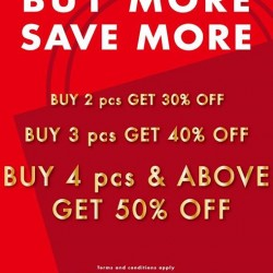 Buy more and SAVE more up to 50% off @ NET