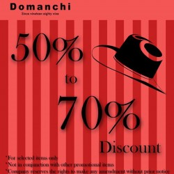 50% - 70% off sale @ Domanchi