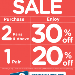 March school holiday sale up to 30% off @ Stride Rite