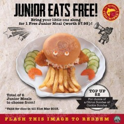 Junior eats for free @ The Manhattan FISH MARKET Singapore