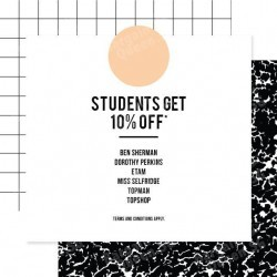 10% off on F3 Star brands for students