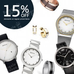 15% off storewide on regular price items @ BERING