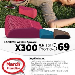 Logitech X300 wireless speakers @ nübox