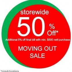 Store-wide 50% off moving out sale @ Early Learning Centre