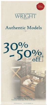 30% - 50% off Authentic Models furniture @ The Wright Gift
