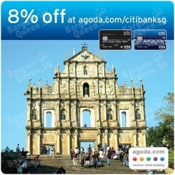 8% off hotels in Malaysia & Macau on Agoda with Citibank Credit Cards