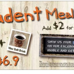 Weekdays Student Meal from $5.9 @ Pastamania