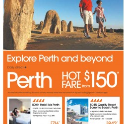 Explore Perth and beyond from $150 @ Jetstar