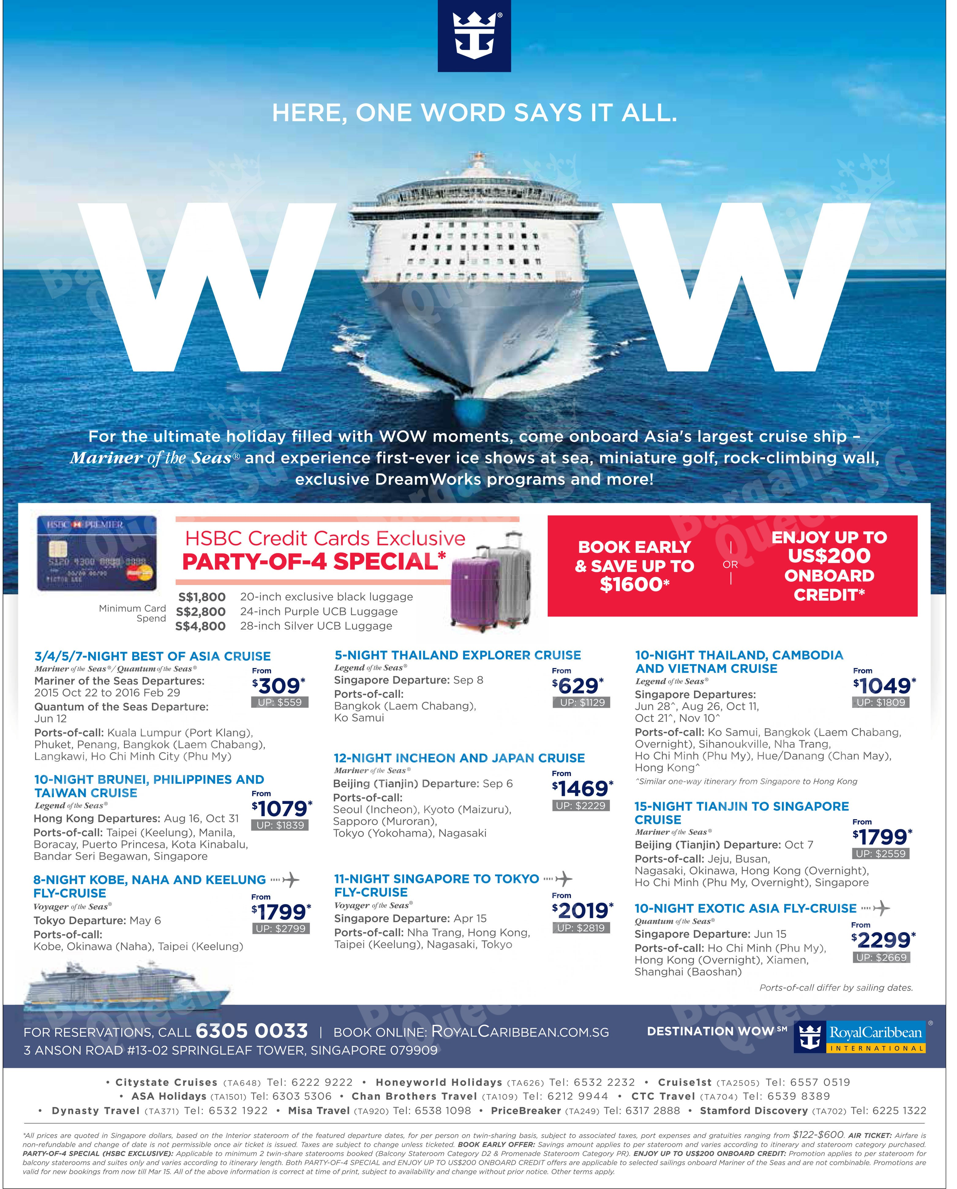 Royal caribbean cruise singapore booking wallpaper punchaos nice for those who are not fond of flying going on a cruise provides an excellent on board are testament to royal caribbeans high entertainment xflitez Images