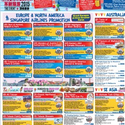 Travel Revolution 2015 preview sale @ Chan brothers