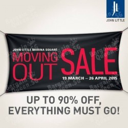 Moving out sale up to 90% off @ John Little