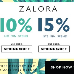 10% Off and 15% Off Voucher Code @ Zalora