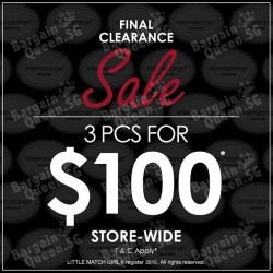 3 for $100 storewide promotion @ Little Match Girl