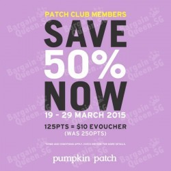 Save 50% member points @ Pumpkin Patch