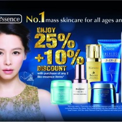 25% + 10% off with min. 2 items purchase @ Bio-essence