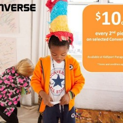 Selected Converse kids tees at $10 off every 2nd piece @ KidStyleSg