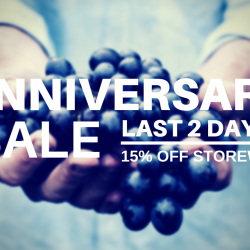 Last 2 Days to15th Anniversary Sale 15% OFF @ The Cellar Door