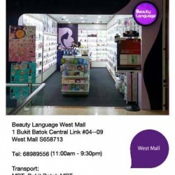 Beauty Language Atrium SALE @ West Mall