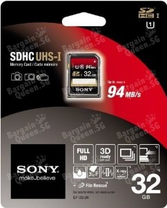 Sony32GB SDHC UHS-1 Class 10 Memory Card (SF32UX/TQN) @Amazon.com