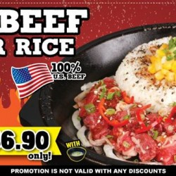 BBQ Beef Pepper Rice for $6.9 @ Pepper Lunch