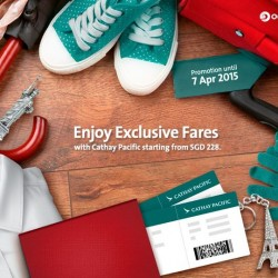 Special air fare at Cathay Pacific Airways with OCBC card