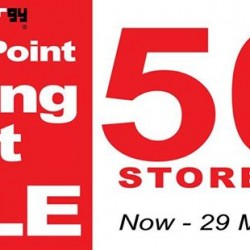 50% OFF Storewide Jurong Point Moving Out Sale @ Metallurgy