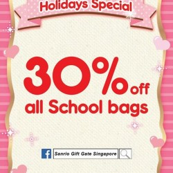 Sanrio Gift Gate Schoolbags Promotion: All 30% Off